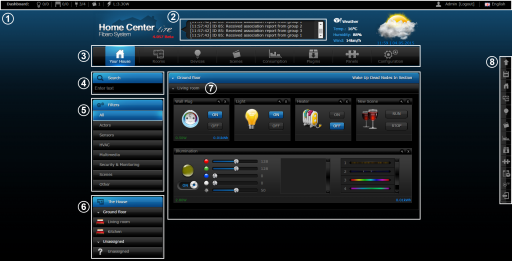 Fibaro Interface HCL